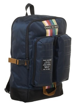 Doctor Who Tardis Double Pocket Backpack Alt 3