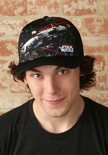 Trucker Hat Star Wars Millennium Falcon Battle Scene