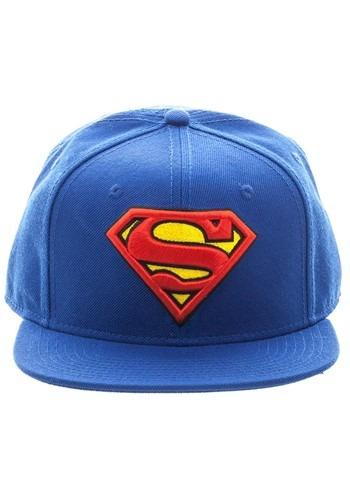 Superman Blue Snapback Hat