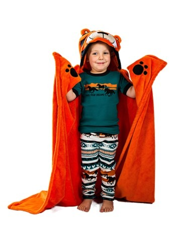 Tiger Critter Hooded Blanket for Kids