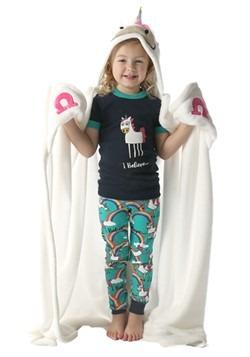 Unicorn Critter Hooded Blanket