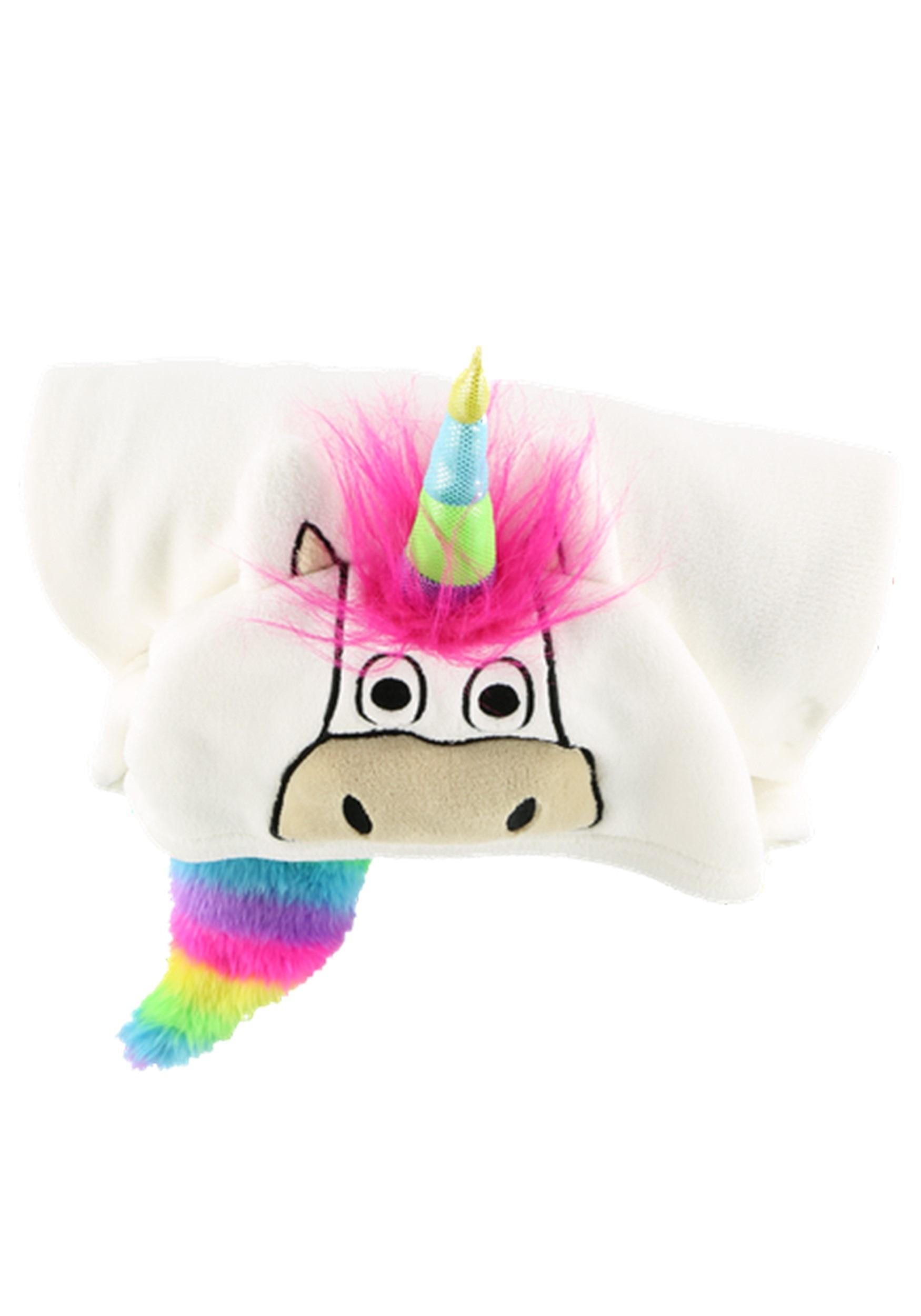 Hooded Unicorn Critter Blanket