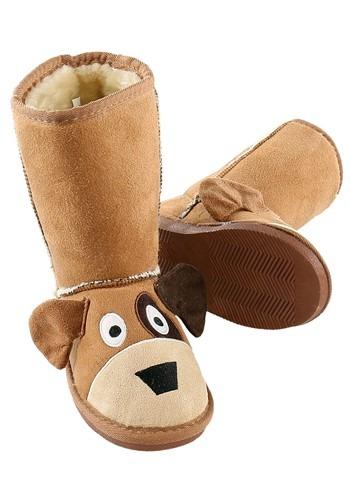 Kids Dog Toasty Toez Slippers