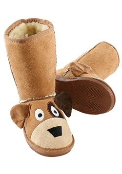 Kids Dog Toasty Toez Slippers