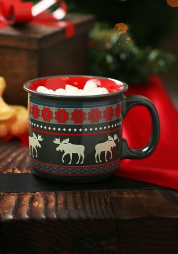 Moose Fair Isle Ceramic Camp Mug