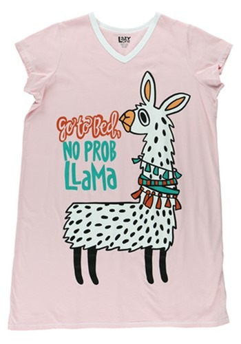 No Prob Llama Womens Fitted Night Shirt