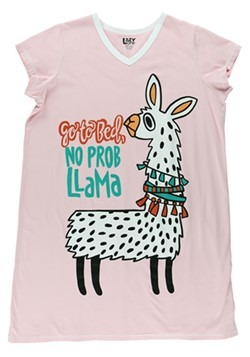 No Prob Llama Womens Fitted Night Shirt