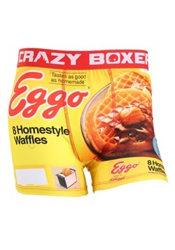 Crazy Boxers Mens Retro Eggo Boxer Briefs
