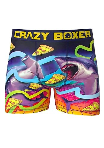 Crazy Boxers 1990s Space Sharks Eating Pizza! Boxe