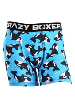 Crazy Boxers Orca Whale Pool Party Mens Boxer Brie