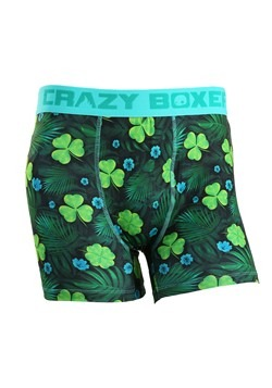 Crazy Boxers Shamrock Get Lucky Men's Boxer Briefs