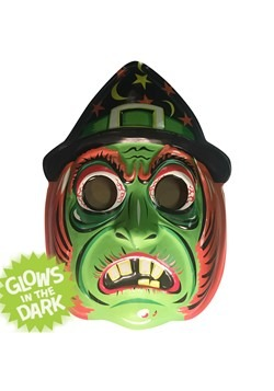 """Classic Witch Vacuform Mask 23"""" Wall Hanger Decor"""