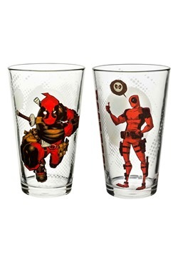 Deadpool Pint Glass 2-Piece Set