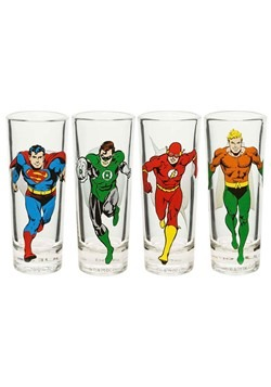 DC Comics Justice League 4-piece Pint Set