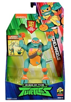 TMNT Michelangelo Popup Attack Action Figure