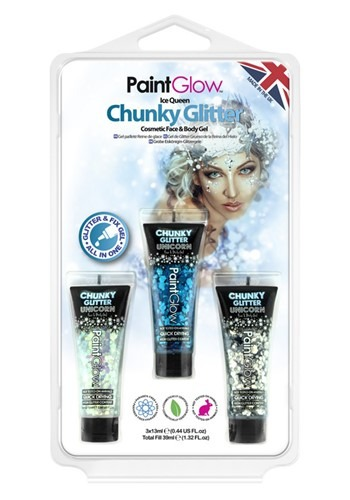 Ice Queen: Chunky Glitter Gels Set 1