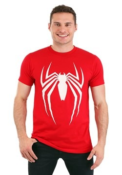 Men's Spider-Man Video Game Logo Red T-Shirt