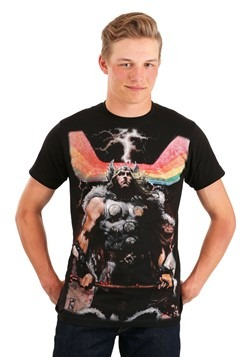 Men's Rainbow Thor Black T-Shirt