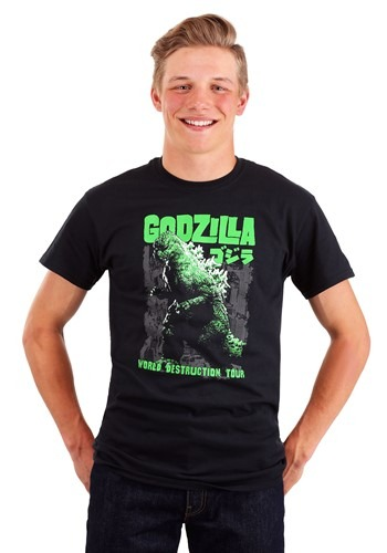 Men's Godzilla World Destruction Tour Black T-Shir