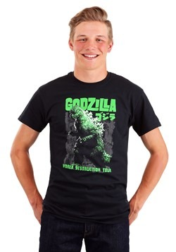 Men's Godzilla World Destruction Tour Black T-Shir