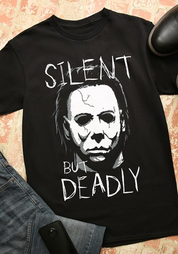 Michael Myers Silent But Deadly Black T Shirt for Adults