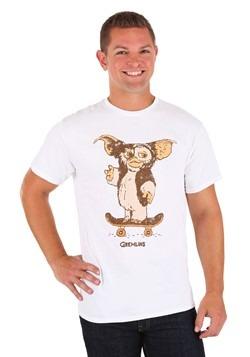 Gizmo Gremlins Skateboard White T Shirt