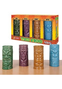 Tiki Mug Set of 4