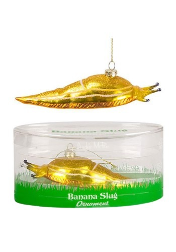 Banana Slug Glass Blown Ornament