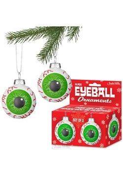 Eyeball Glass Ornaments- Set of 2