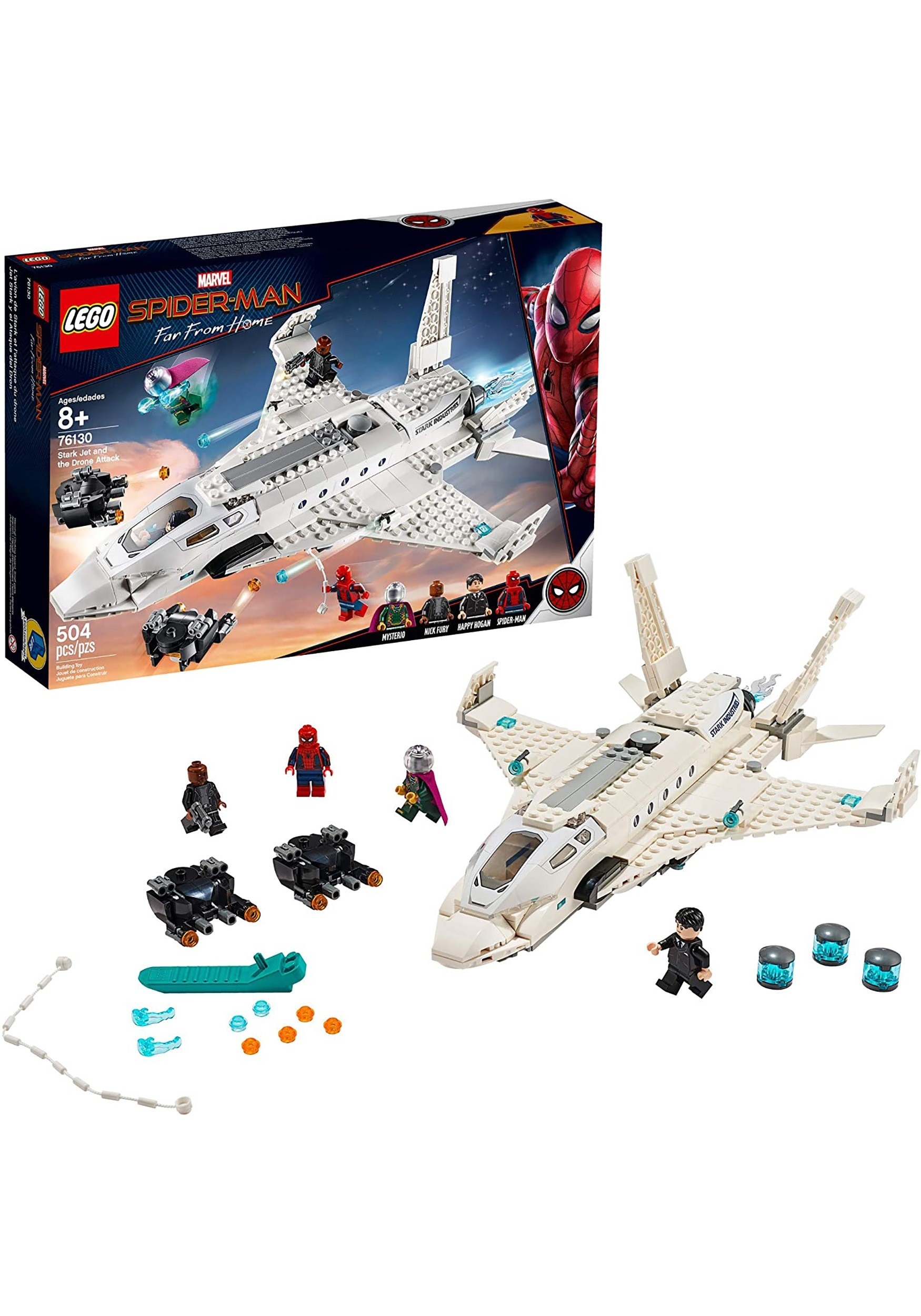 6f64a146 LEGO Spider-Man Far From Home Stark Jet and the Drone Attack