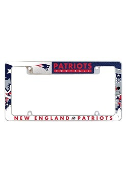 NFL New England Patriots SPARO All Over Chrome License Plate