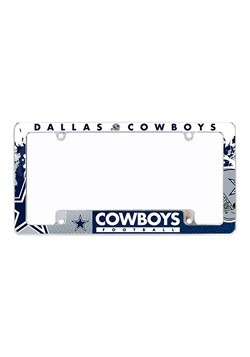 NFL Dallas Cowboys SPARO All Over Chrome License Plate Frame