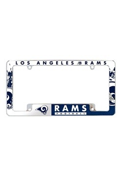NFL Los Angeles Rams SPARO All Over Chrome License Plate Fra