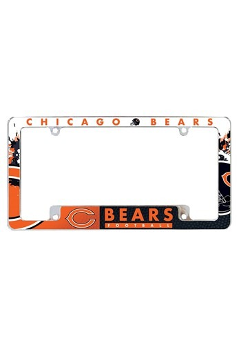 The NFL Chicago Bears SPARO Chrome License Plate Frame