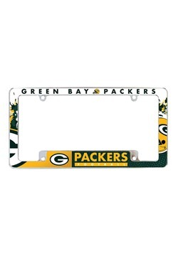 NFL Green Bay Packers SPARO All Over Chrome License Plate