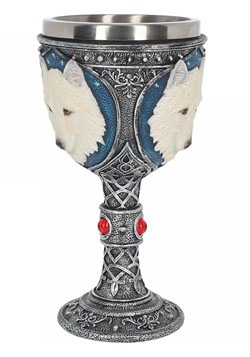 Molded Resin Ghost Wolf Goblet Large 19 2 cm