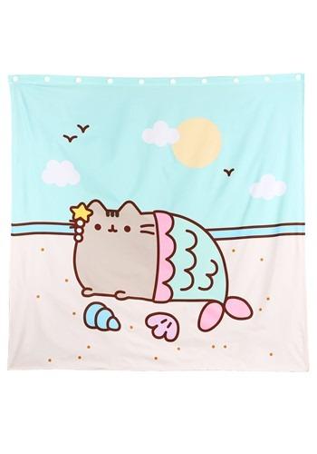 Pusheen Mermaid Shower Curtain