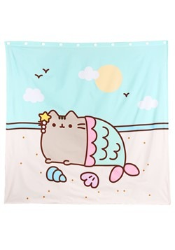 Pusheen Mermaid Shower Curtain