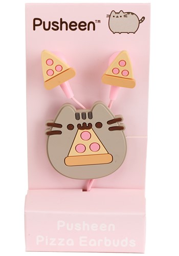Silicone Pusheen Pizza EarBuds