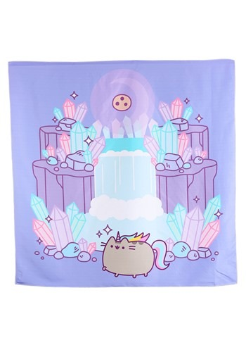 Pusheenicorn Crystal Cavern Wall Tapestry