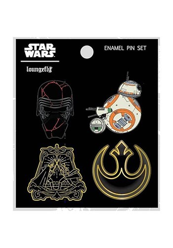 Loungefly Star Wars EP 9 4 Pack Enamel Pin Set
