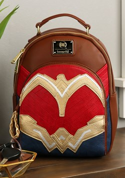 Loungefly Wonder Woman Faux Leather Mini Backpack Update