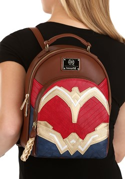 Loungefly Wonder Woman Faux Leather Mini Backpack alt 5