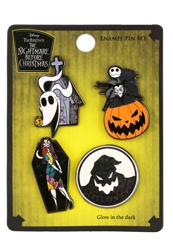Loungefly Nightmare Before Christmas 4 Pack Enamel