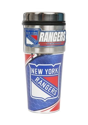 NHL New York Rangers 16 oz. Tumbler w/ Metalic Gra