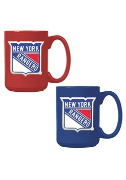 NHL New York Rangers 15oz. Ceramic Mug Gift Set