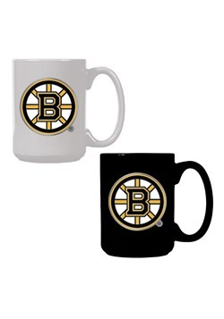 NHL Boston Bruins 15oz. Ceramic Mug Gift Set