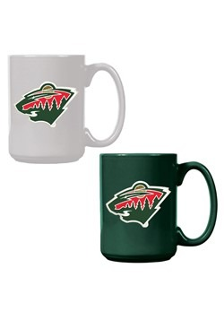 NHL Minnesota Wild 15oz. Ceramic Mug Gift Set