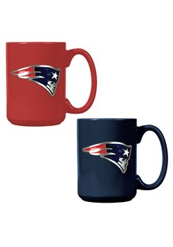 NFL New England Patriots 15oz. Ceramic Mug Gift Se