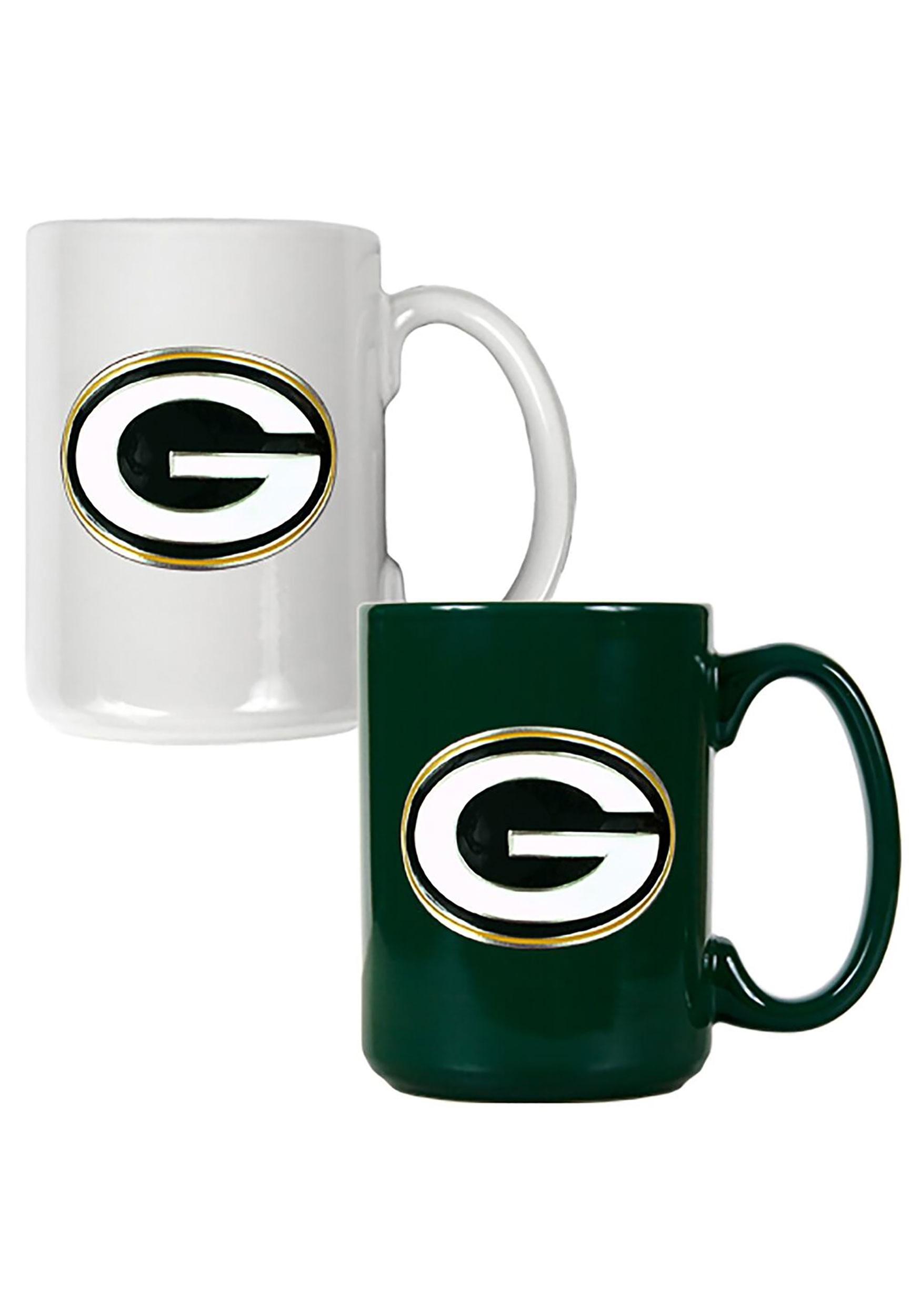 497695de NFL Green Bay Packers 15oz. Ceramic Mug Gift Set